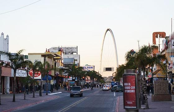 vista de la ciudad de Tijuana en la Ruta de Baja California