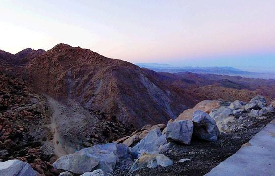 Vista de la Rumorosa Baja California