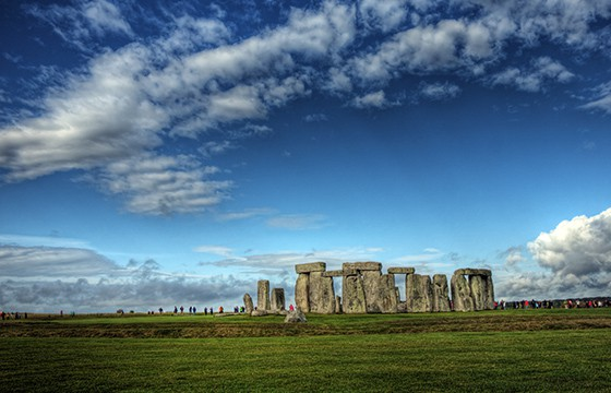 Vista de Stonehenge Gran Bretaña
