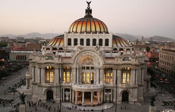 Vista del Palacio de Bellas Artes