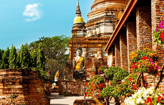 Vista de la ciudad de  Ayutthaya Tailandia
