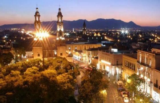 Vista del Templo de la Merced en Aguascalientes