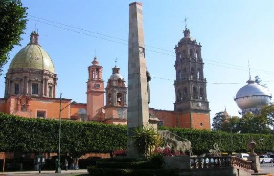 Vista de la mágica Catedral de Celaya