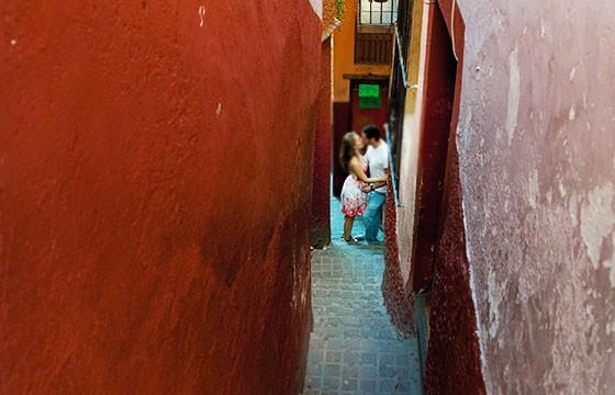 El Callejón del Beso, México. Lugares que dan suerte.