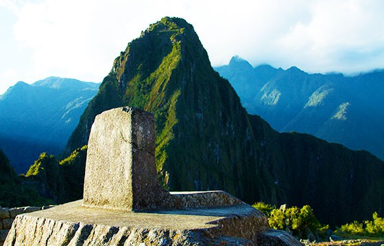 El obelisco de Machu Picchu, Perú. Lugares que dan suerte.