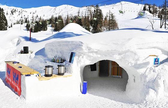 Vista del Hotel de hielo Eskimska, Eslovenia