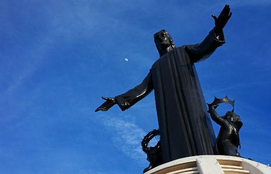 Vista de la estatua de Cristo Rey, Silao