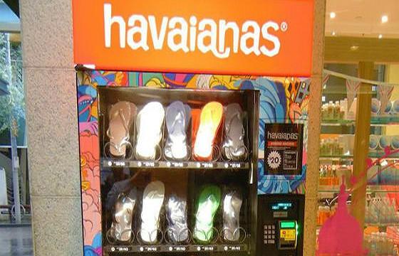 Expendedora de calzado. Máquinas expendedoras más extrañas del mundo.