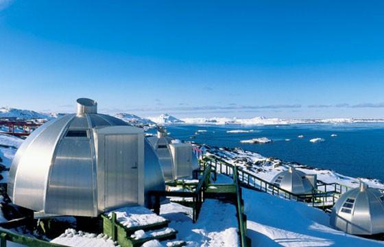Vista del Hotel Artic en Groenlandia