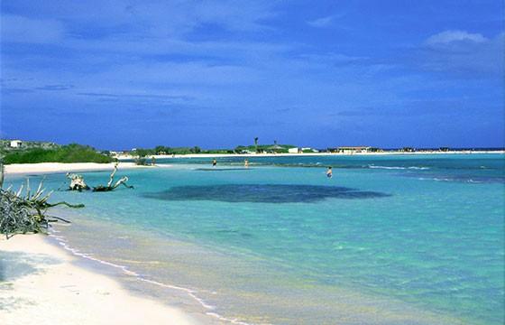Vista de la Isla Aruba