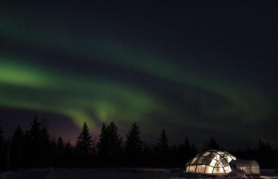 Vista del Kakslauttanen Artic