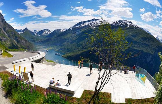 Vista del mirador Ornesvingen Noruega