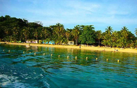 Vista de Isla Grande en Panamá