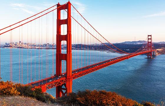 Vista del Puente Golden Gate de San Francisco