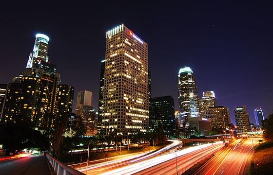 Vista de la ciudad de Los Angeles California