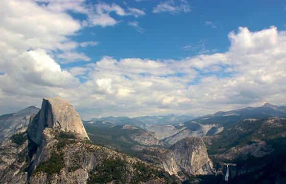 Vista del mirador Glacier Point Estados Unidos