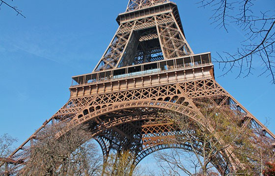 Vista de la Torre Eiffel París