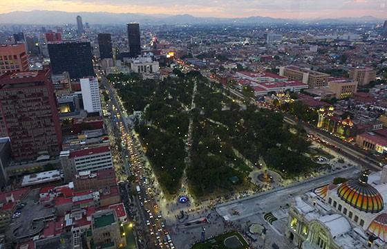 Vista desde el mirador de la Torre Latinoamericana Ciudad de México