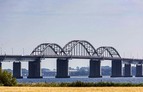 Vista del Puente en Dinamarca Oresund