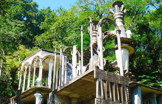 Vista del Jardín surrealista en Xilitla