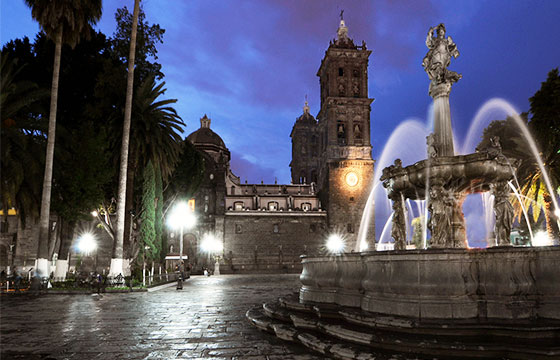 Zócalo de la ciudad de Puebla