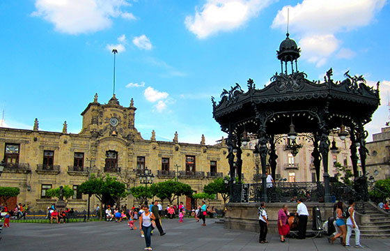 Vista del zócalo de Guadalajara