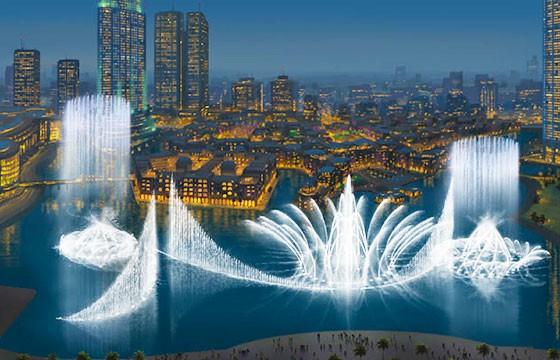 Fuente de Dubái, Emiratos Árabes Unidos